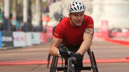 Wheelchair racer David Weir makes history